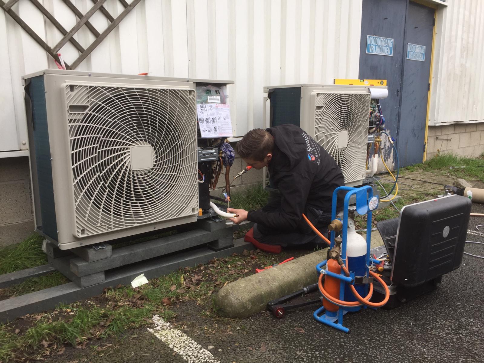 Spruijt Klimaat - Satelliet systeem airco sportschool Westfriesland