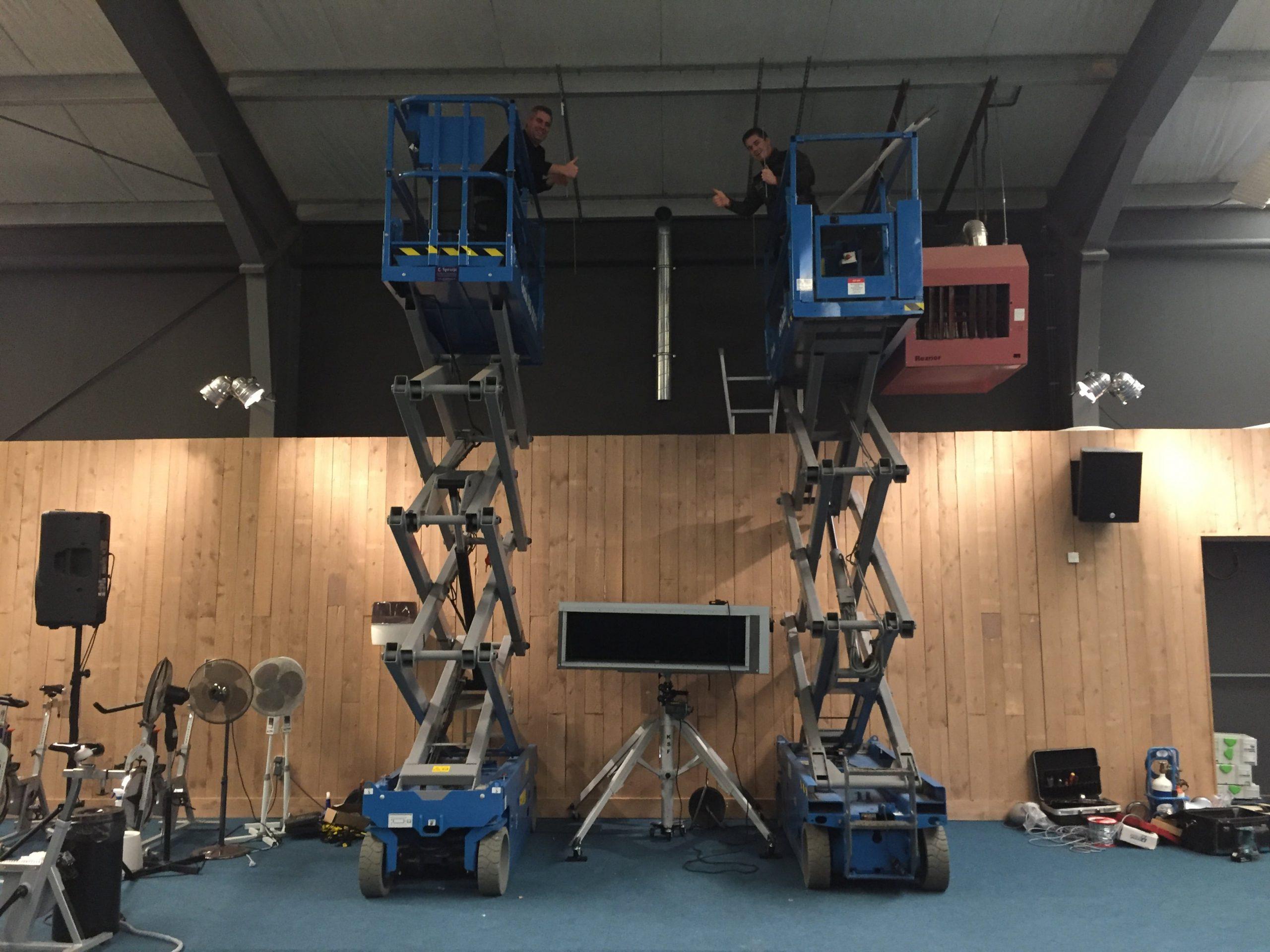 Hoogwerker Spruijt Klimaattechniek airco systeem