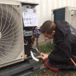 Installatie airconditioning en warmtepomp systeem sporthal